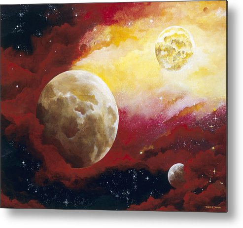 Space Metal Print featuring the painting Psalm by Laura Swink
