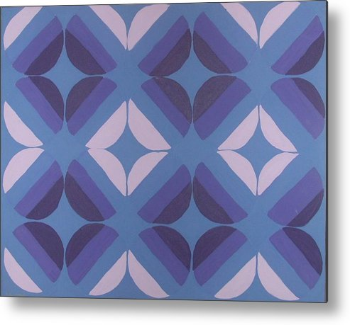 Circles Metal Print featuring the painting Purple Passion by Gay Dallek