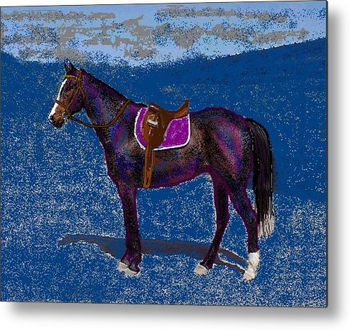 Horse Metal Print featuring the digital art Purple Whiskey by Carole Boyd