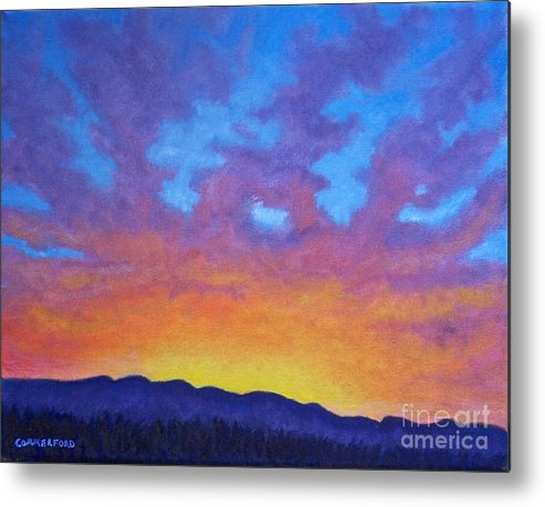 Landscape Metal Print featuring the painting Radiance by Brian Commerford