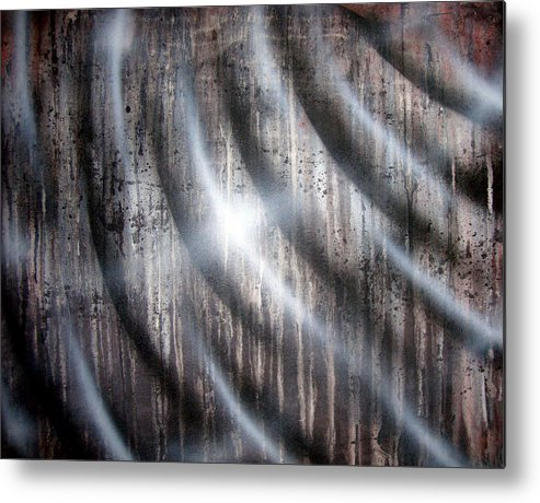 Rain Metal Print featuring the painting Raining by Leigh Odom