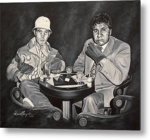 Hst Metal Print featuring the painting Raoul And Dr. Gonzo In Las Vegas by Daniel Bergren