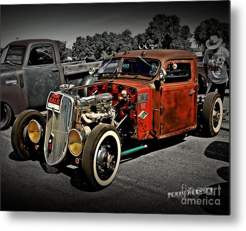 Rat Rod Metal Print featuring the photograph Rat Rod For Sale 2 by Perry Webster