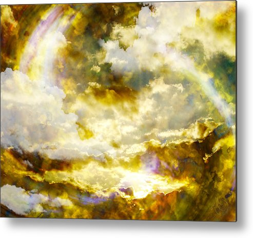 Clouds Metal Print featuring the digital art Realm Of Angels by Gae Helton