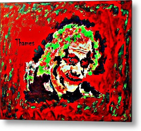 Acrylic Metal Print featuring the painting Red Joker by Christopher Thames