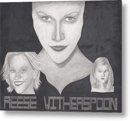 Reese Metal Print featuring the drawing Reese Witherspoon by Tara Kearce