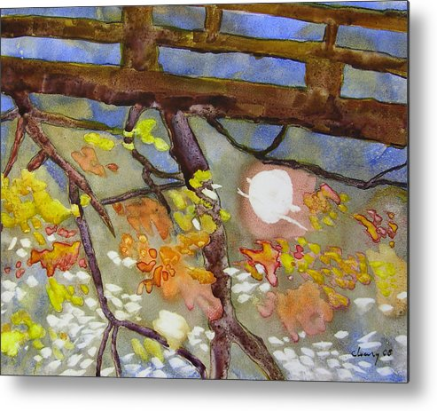 Melody Cleary Metal Print featuring the painting Reflection by Melody Cleary