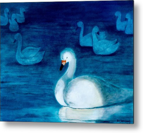 Duck Metal Print featuring the painting Reflections 1 by Jun Jamosmos