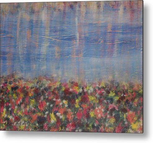 Floral Metal Print featuring the painting Reflections by Jennifer Hernandez