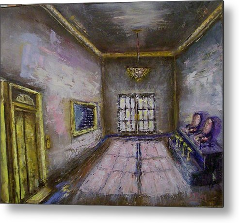 Lobby Metal Print featuring the painting Retro Lobby by Stephen King