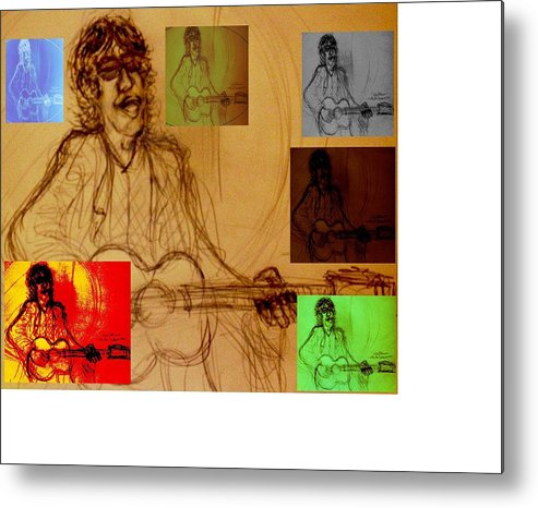 Verve Metal Print featuring the drawing Richard Ashcroft The Great Maestro by Richard Hubal