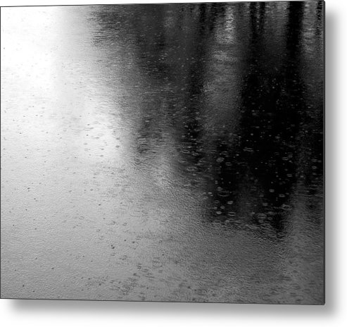 River Metal Print featuring the photograph River Rain Naperville Illinois by Michael Bessler