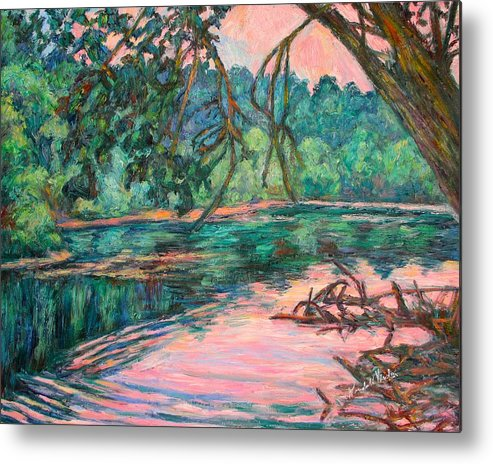 Riverview Park Metal Print featuring the painting Riverview At Dusk by Kendall Kessler