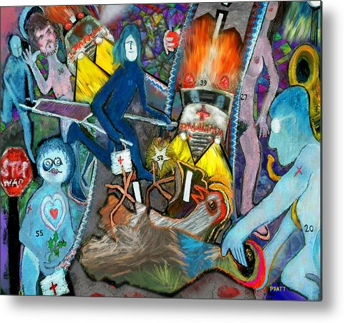 Paramedic Metal Print featuring the painting Road Kill Revisited by Robert Pratt