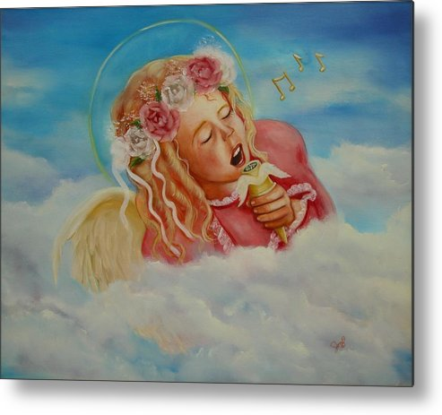 Angel Metal Print featuring the painting Rock And Roll Angel by Joni McPherson