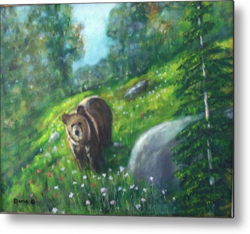Wildlife Metal Print featuring the painting Rocky Mountain Spring by Darla Joy Johnson