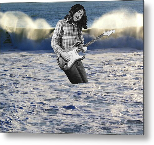 Rock Musicians Metal Print featuring the photograph Lost At Sea by Ben Upham
