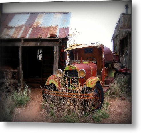 Car Metal Print featuring the photograph Rusted Classic by Perry Webster