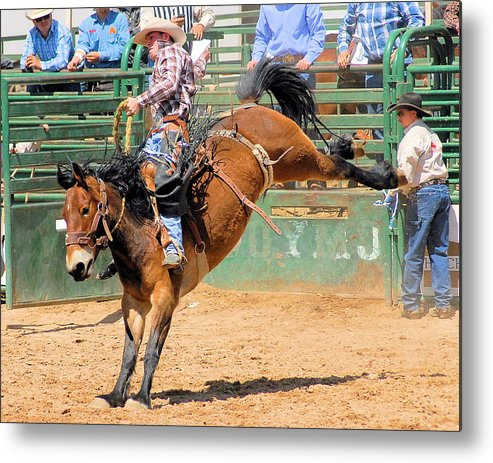 Photo Metal Print featuring the photograph Saddlebronc 101 by Cheryl Poland