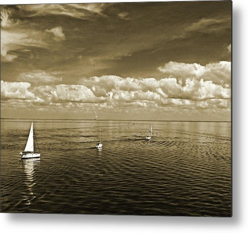 Sail Boats Metal Print featuring the photograph Sail Boats 1 by Michael L McKinley