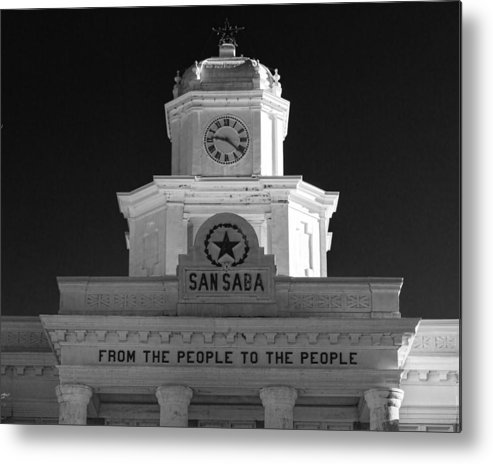 Courthouse Metal Print featuring the photograph San Saba Couthouse by Stephen Stookey