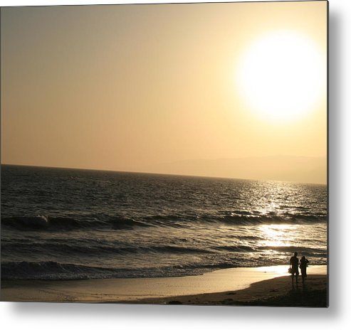 Landscape Metal Print featuring the photograph Santa Monica At Sunset by Aimee Galicia Torres
