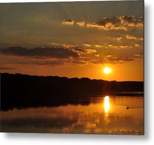 Landscape Metal Print featuring the photograph Savannah River Sunset by Susan Cliett