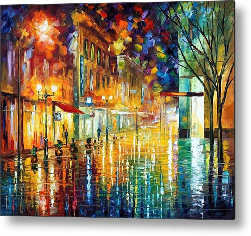 Afremov Metal Print featuring the painting Scent Of Rain by Leonid Afremov