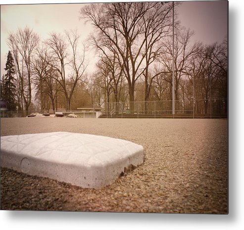 Baseball Metal Print featuring the photograph Second Base by LuAnn Griffin