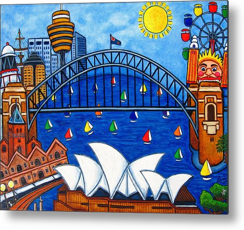 House Metal Print featuring the painting Sensational Sydney by Lisa Lorenz