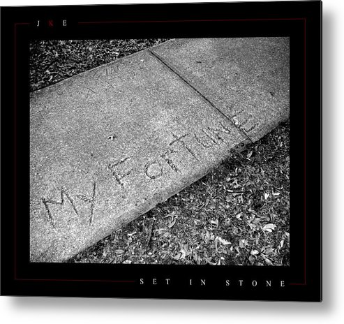 Sidewalk Metal Print featuring the photograph Set In Stone by Jonathan Ellis Keys