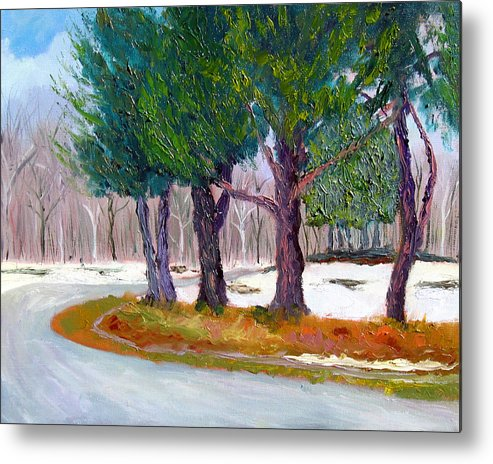 Landscape Metal Print featuring the painting Sewp Spring Thaw by Stan Hamilton