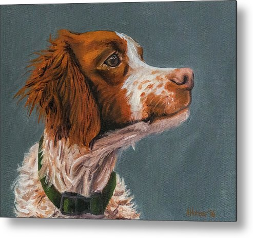 Dog Metal Print featuring the painting Shanzi by Amber Honour