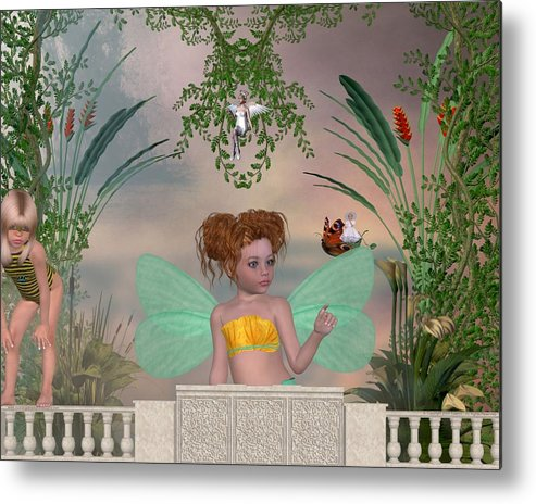 Fairy Metal Print featuring the digital art Shhhh by Morning Dew