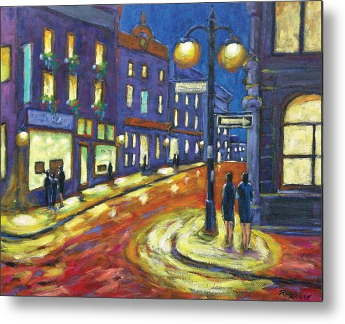 Night Metal Print featuring the painting Shimmering Night by Richard T Pranke
