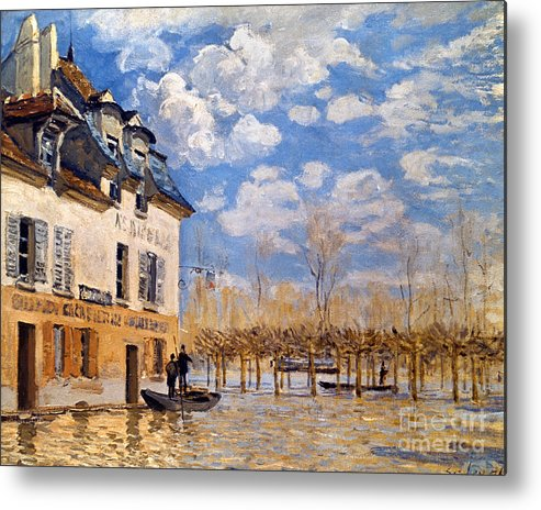 1876 Metal Print featuring the photograph Sisley: Flood, 1876 by Granger