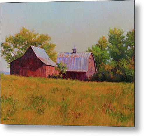 Barns Metal Print featuring the painting Sisters by Keith Burgess