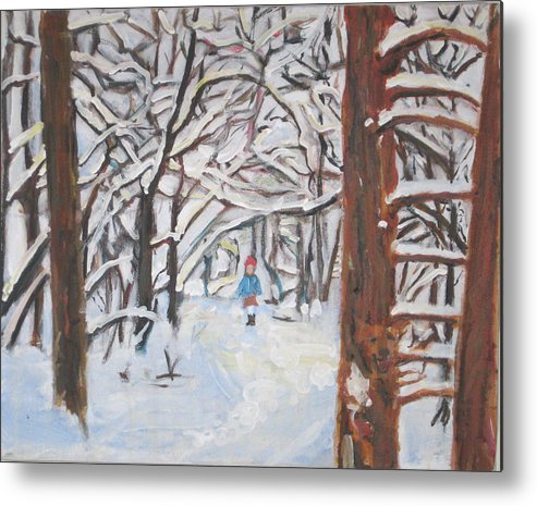 Snow Metal Print featuring the painting Snow by Alicia Kroll