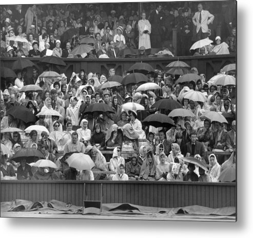 Adult Metal Print featuring the photograph Soggy Supporters by Ron Stone