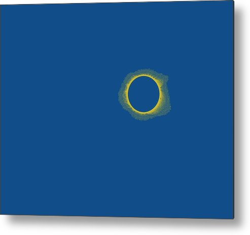 Sun Metal Print featuring the painting Solar Eclipse, 29 by Celestial Images