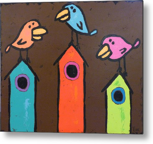 Birds Metal Print featuring the painting South For The Winter by Ron York