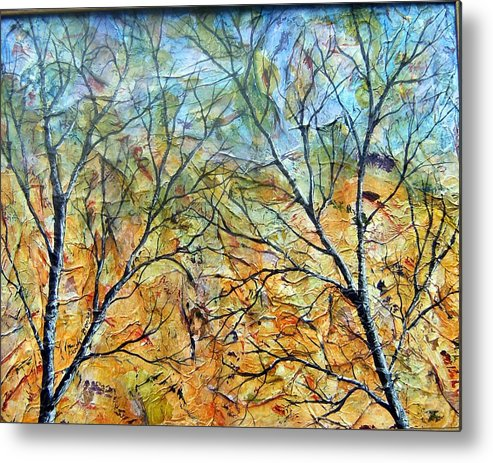 Metal Print featuring the painting Spirit Trees 7 by Tami Booher