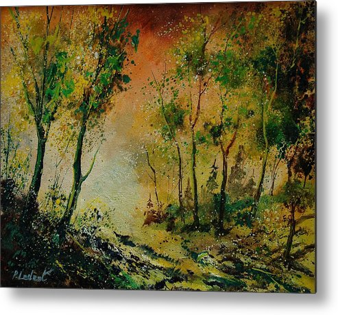 Spring Metal Print featuring the painting Sprin In Wood 45 by Pol Ledent