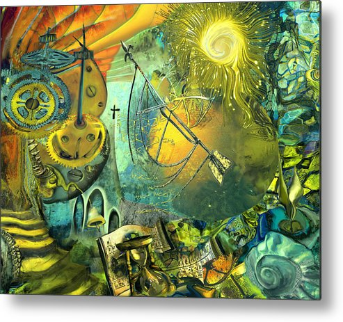 Science Metal Print featuring the painting Stairway To Heaven by Anne Weirich