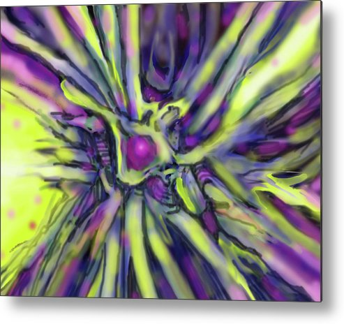 Abstract Metal Print featuring the digital art Star Burst by Ian MacDonald