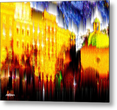 Old World Metal Print featuring the digital art Starry Night In Prague by Seth Weaver