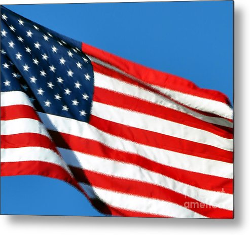 Flag Metal Print featuring the photograph Stars And Stripes by Al Powell Photography USA