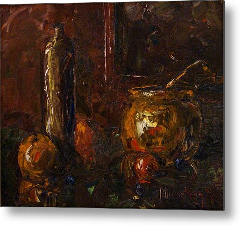 Still Life Metal Print featuring the painting Still by Michael Lang
