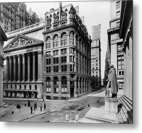 1908 Metal Print featuring the photograph Stock Exchange, C1908 by Granger