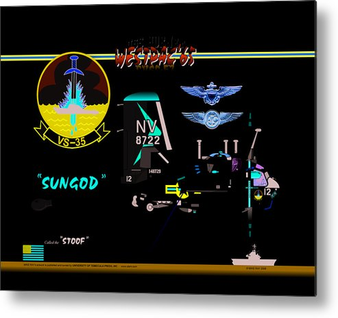 Aviation Metal Print featuring the digital art Stoof Caricature A by Mike Ray
